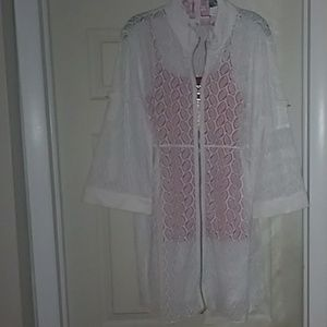 White zip cover up or light jacket